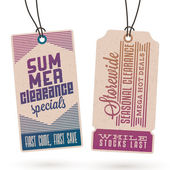Summer Sales Hang Tags — Stock Vector