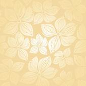 Gentle floral wedding invitation background — Stock Vector