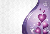 Valentine & birthday card background in pink & violet — Vector de stock