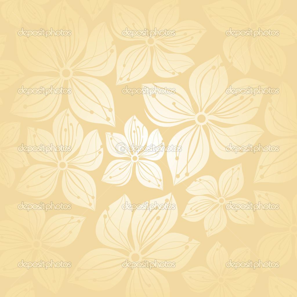 Gentle Floral Wedding Invitation Background Stock Vector