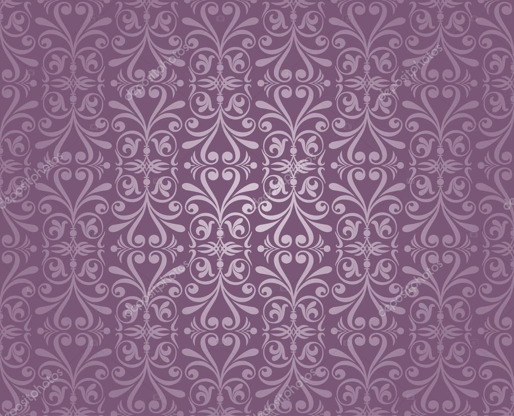papel tapiz vintage de lujo violeta y plata — Vector stock ...