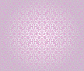 Pink & silver vintage wallpaper background design — Stock Vector