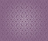 Violet and silver luxury vintage wallpaper — Vector de stock