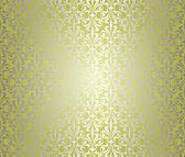 Green & silver vintage wallpaper design — Vector de stock