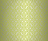 Green & silver vintage wallpaper design — Stock Vector