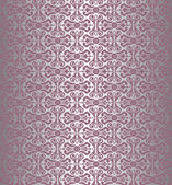 Pink & silver vintage wallpaper — Stock Vector