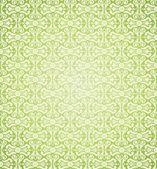 Green vintage wallpaper design — Stock Vector