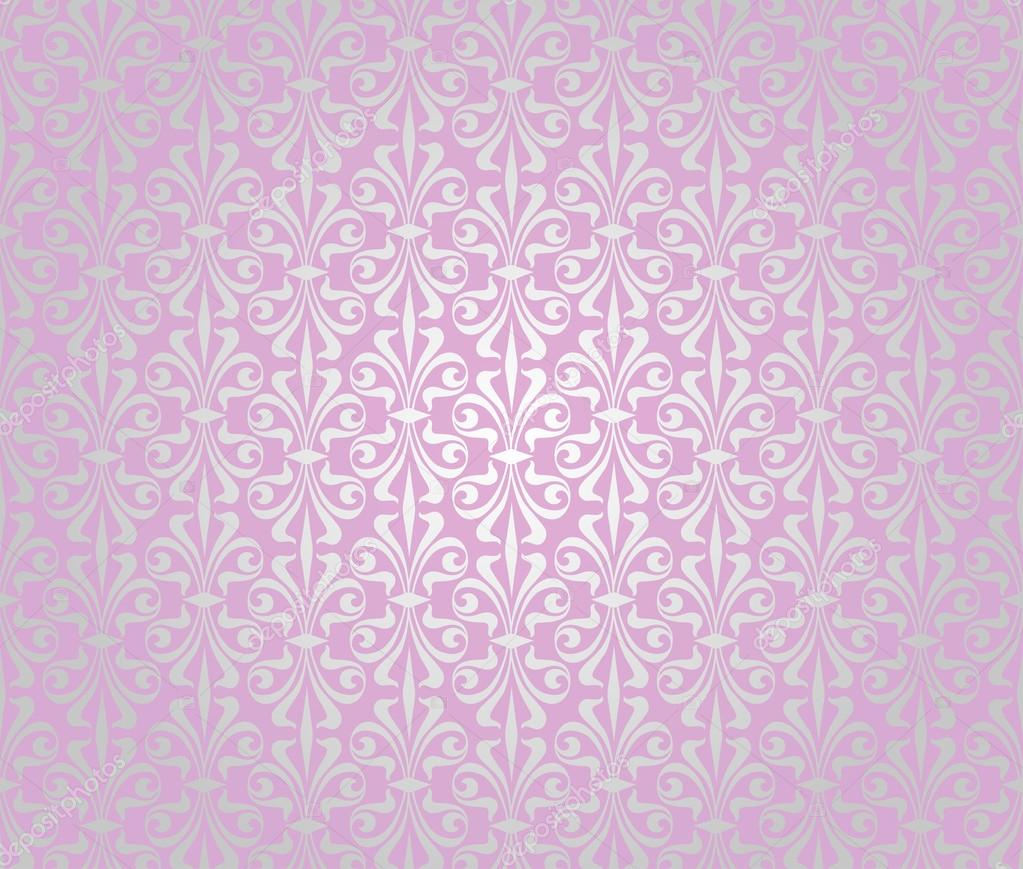 Pink silver vintage wallpaper background design stock for Pink and silver wallpaper