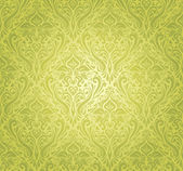 Green vintage wallpaper design — Stock Vector
