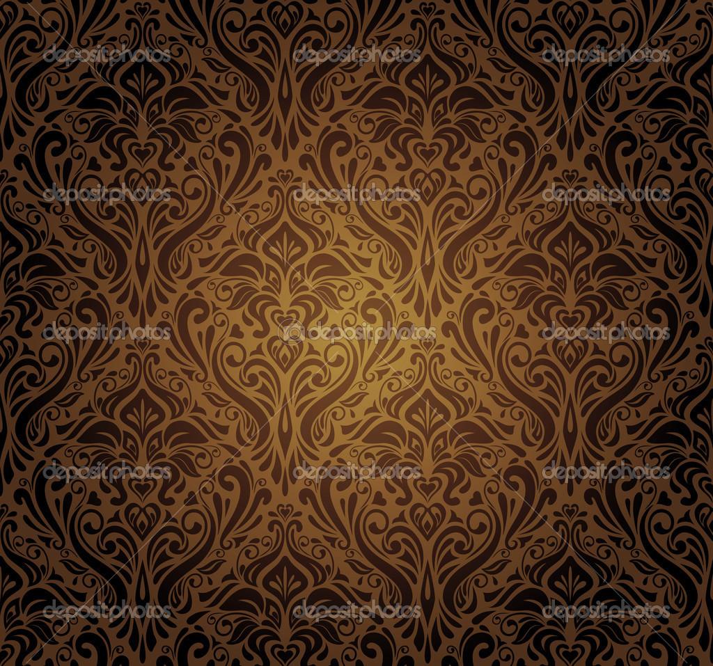 dark brown vintage wallpaper design stock vector erinvilar 23884659. Black Bedroom Furniture Sets. Home Design Ideas
