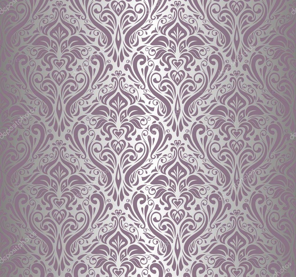 Papel pintado vintage violeta y plata vector de stock for Papel pintado color plata