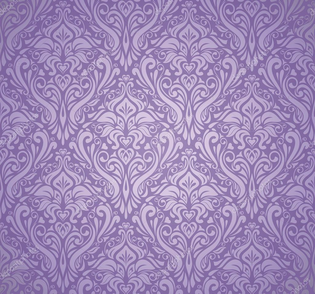 Violet silver vintage wallpaper stock vector for Papel pintado vintage