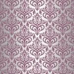 Violet & silver vintage wallpaper — Stock Vector