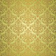 Royalty-Free Stock Vector Image: Green  & brown  vintage wallpaper design