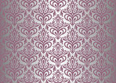 Violet & silver vintage wallpaper — Stock Vector