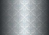 Silver luxury vintage wallpaper — Stock Vector