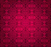 Red vintage wallpaper background — Stock Vector