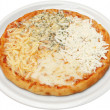 Stock Photo: PizzQuattro formaggi with cheese, feta, melted and cream cheese