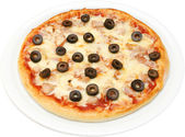 Pizza Salsiche — Stock Photo