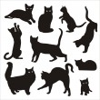 Silhouette of cat — Stock Vector #32433441