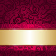 Stock Vector: Red and gold luxury vintage wallpaper