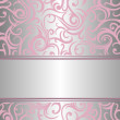 Stock Vector: Pink & silver invitation