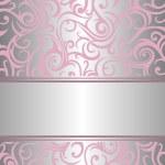 Pink & silver invitation — Stock Vector