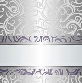 Violet & silver holiday vintage design — Stock Vector