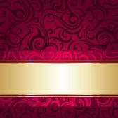 Tappezzeria vintage di lusso rosso e oro — Vettoriale Stock