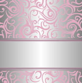 Pink & silver invitation — Stock Vector
