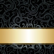 Black luxury vintage background — Stock Vector