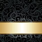 Black luxury vintage background — Stock Vector