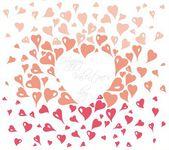 Gentle vintage valentine's day card — Vecteur
