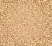 赭石老式无缝花背景设计 — 图库矢量图片