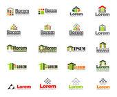Abstract vector set of real estate logos — Stock Vector
