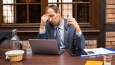 Tired businessman — Stock Photo