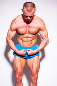 Muscled model posing — Stock Photo