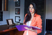 Irritated businesswoman — Stock Photo