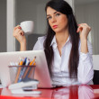 Businesswoman having coffee break — Stock Photo #44347811