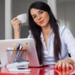 Businesswoman having coffee break — Stock Photo #44348029