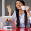 Businesswoman having coffee break — Stock Photo #44348199