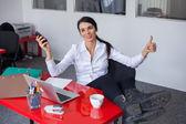 бизнес-леди в офисе — Стоковое фото
