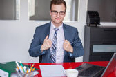 Businessman in office — Foto Stock