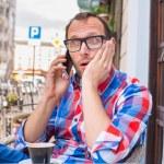 Surprised man on phone — Stock Photo #45073617