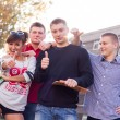 Students showing thumbs up — Stock Photo #45075957