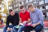 öğrencilere kitap okuma — Stok fotoğraf