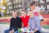 Studenti, libri di lettura — Foto Stock