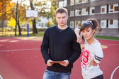 Mladí studenti — Stock fotografie
