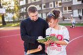 若い学生たち — ストック写真