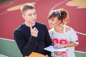 Jóvenes estudiantes — Foto de Stock